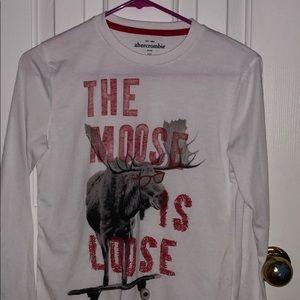 Abercrombie kids the moose is loose sleep shirt